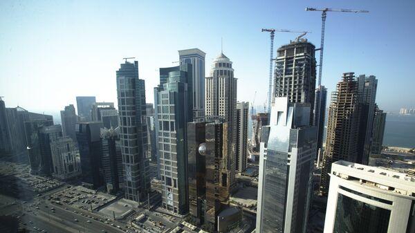 Небоскребы в Дохе.