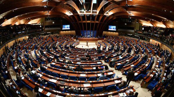 Делегаты в зале на пленарном заседании ПАСЕ