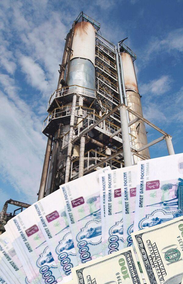 Деньги, нефтяная вышка