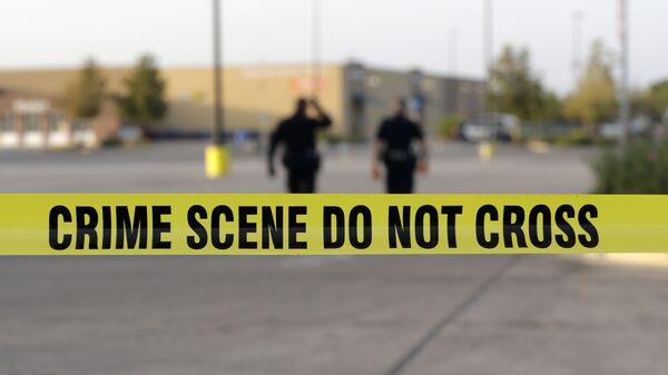 Сотрудники правоохранительных органов США на месте преступления