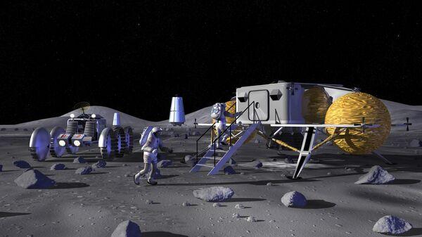 Лунный форпост. Иллюстрация NASA