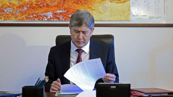 Президент Кыргызской Республики Алмазбек Атамбаев