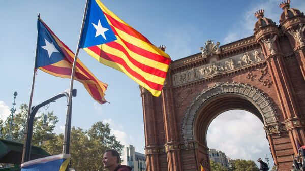 Парламента Каталонии в Барселоне. Архивное фото