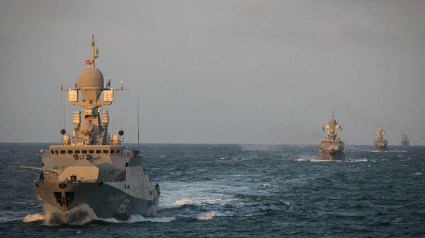 Учения Каспийской флотилии. Архивное фото