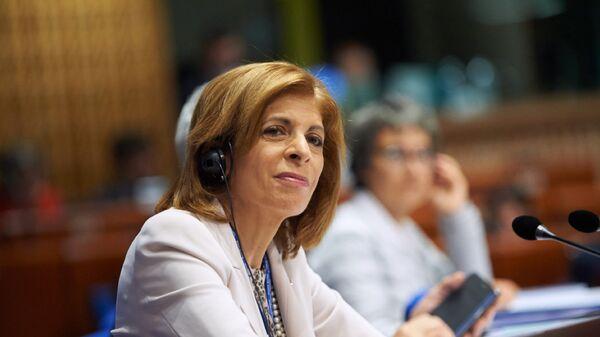 Председатель ПАСЕ Стелла Кириакидес во время заседания