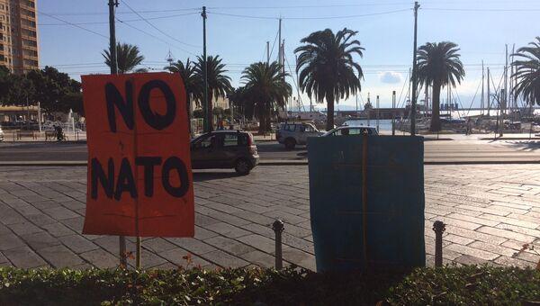 Акция против НАТО в Италии