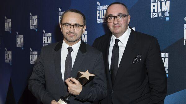 Андрей Звягинцев после получения Гран-при 61-го Лондонского международного кинофестиваля