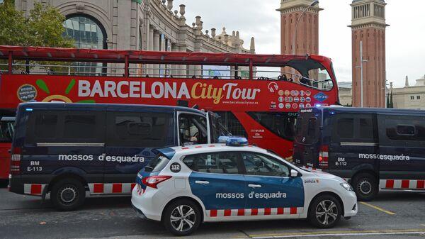 Автомобили полиции в Барселоне