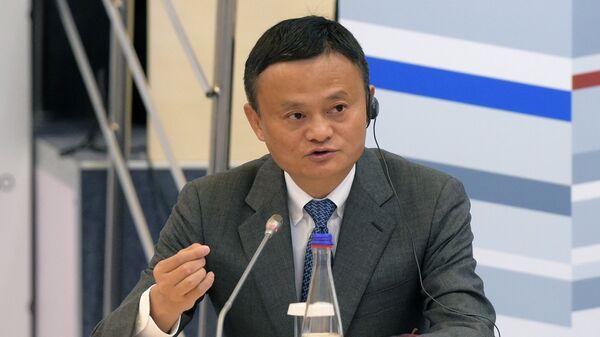 Исполнительный председатель Alibaba Group Джек Ма в Сколково. 17 октября 2017