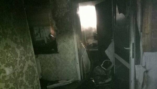 На месте пожара на улице Курортной в городе Иркутске. Архивное фото