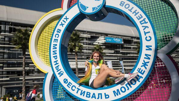 Участница XIX Всемирного фестиваля молодежи и студентов в Сочи