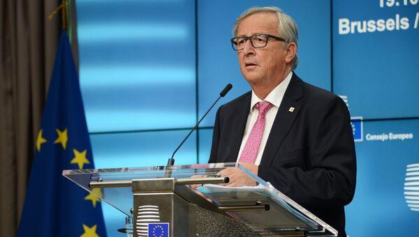 Председатель Европейской комиссии Жан-Клод Юнкер на заседании Совета Европы в Брюсселе