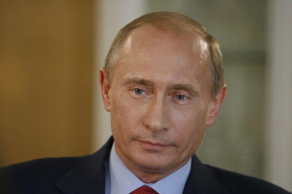 Владимир Путин во время интервью американскому телеканалу CNN