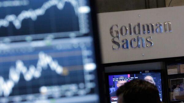Вывеска одного из крупнейших в мире инвестиционных банков Goldman Sachs, США