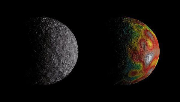 Следы древнего океана, найденные на поверхности Цереры зондом Dawn