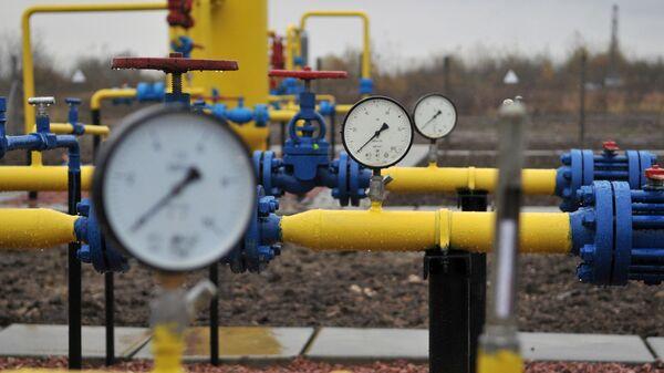 Газовая труба на Украине. Архивное фото