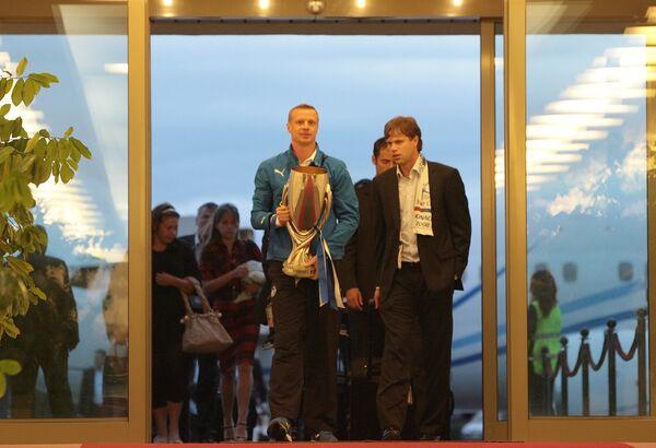 Игроки Зенита вернулись в Санкт-Петербург