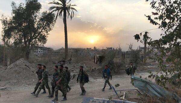 Сирийские военные в провинции Дейр-эз-Зор