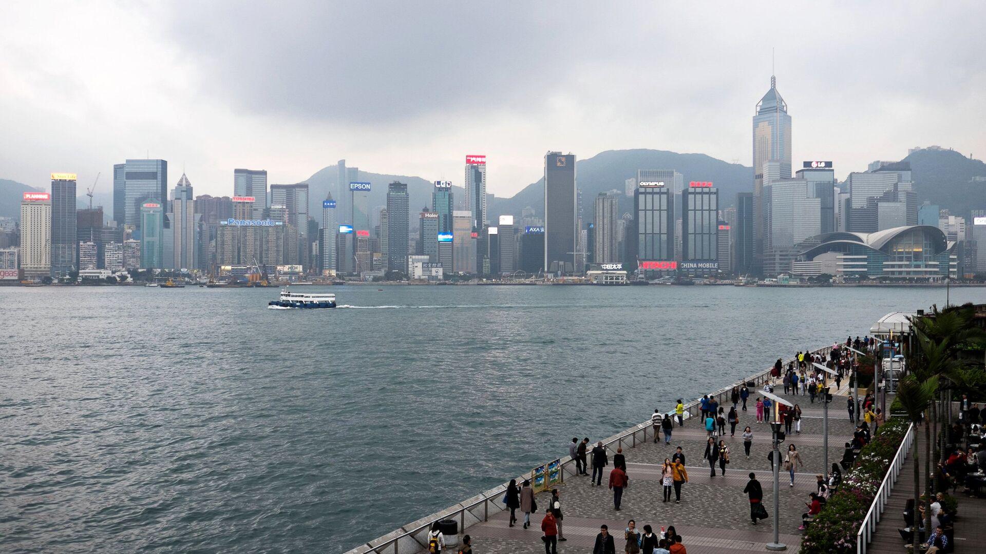 Вид с набережной на Гонконг - РИА Новости, 1920, 28.09.2021