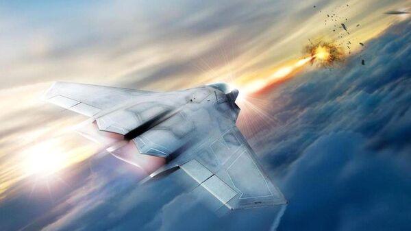Концепт истребителя, оснащенного лазерным оружием