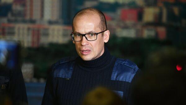 Глава Удмуртской Республики Александр Бречалов во время брифинга, организованного в связи с обрушением жилого дома в Ижевске. Архивное фото