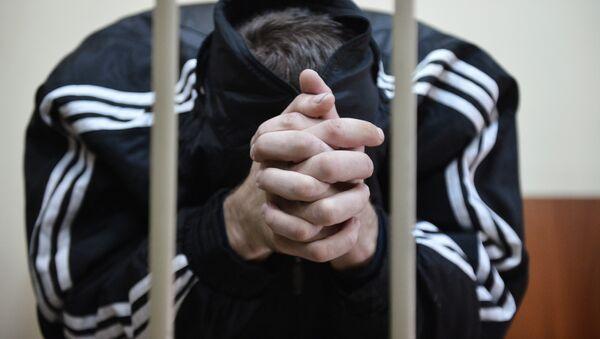 Арестованный в суде. Архивное фото