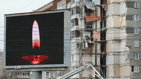 Место обрушения жилого дома в Ижевске