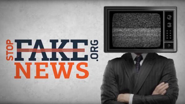 Заставка программы StopFake news