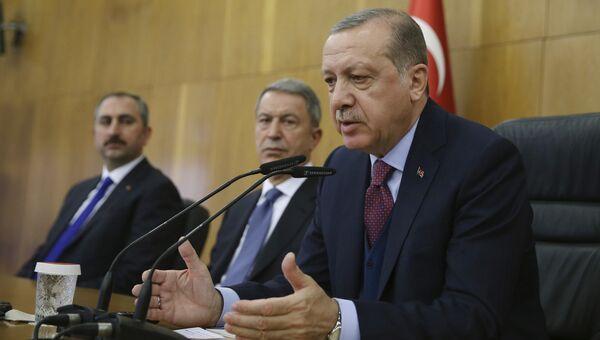 Президент Турции Тайип Эрдоган. 13 ноября 2017