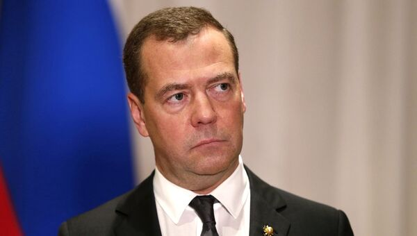 Премьер-министр РФ Дмитрий Медведев на пресс-конференции по итогам саммита АСЕАН и ВАС. 14 ноября 2017