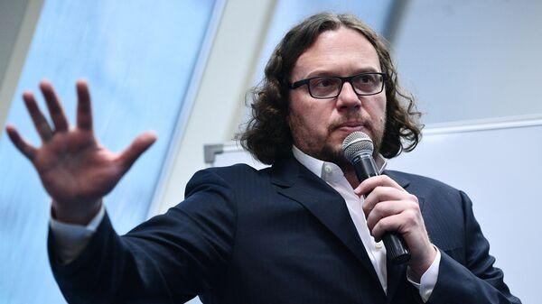 Бизнесмен Сергей Полонский на пресс-конференции в Москве. 14 ноября 2017