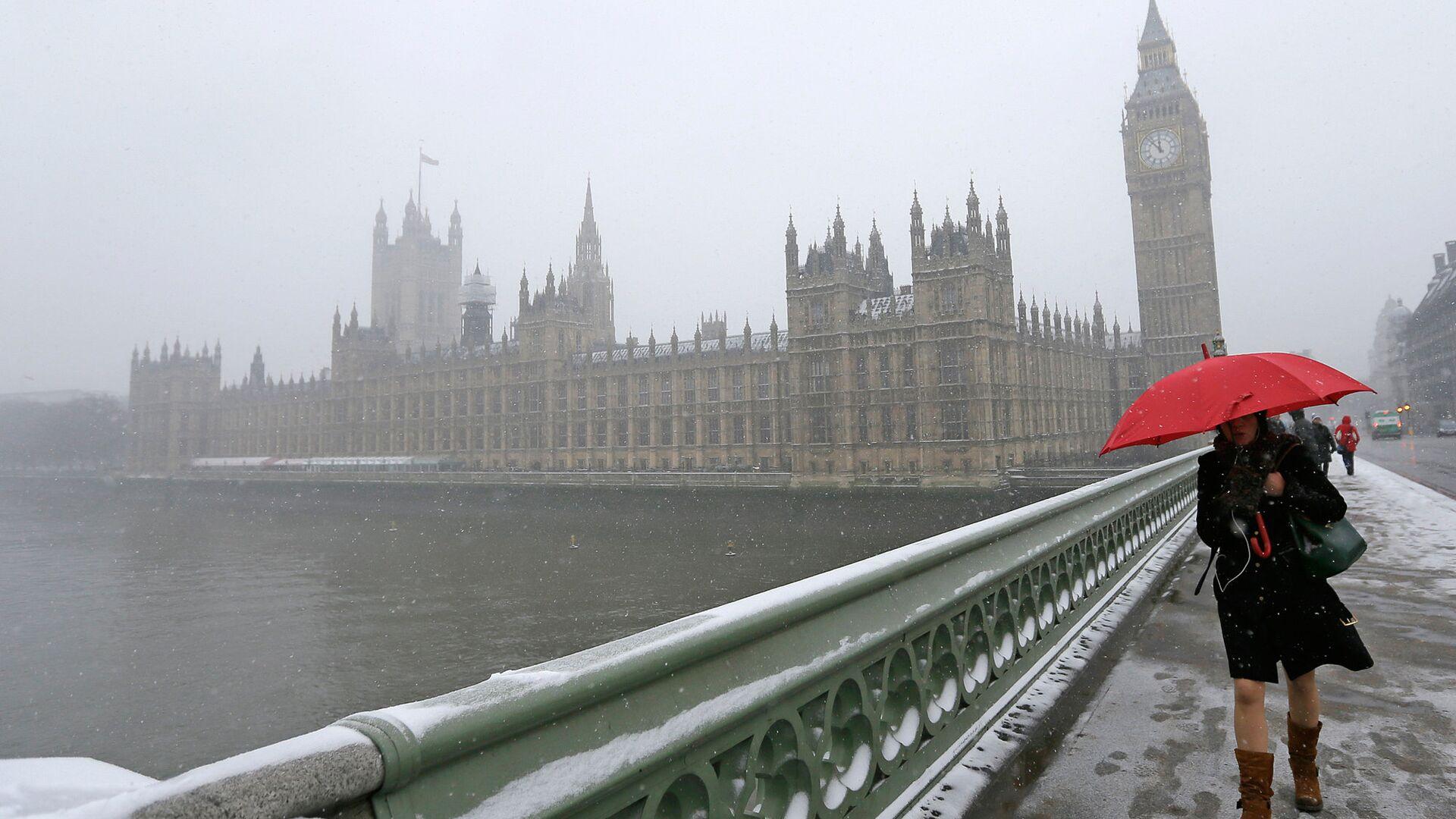 Снегопад в Лондоне - РИА Новости, 1920, 07.12.2020