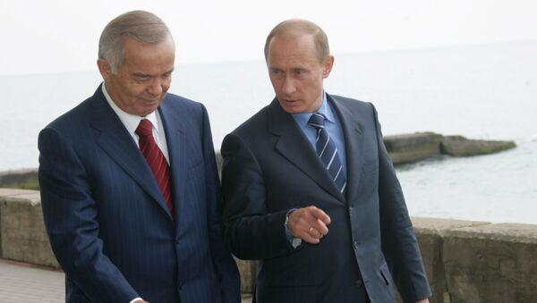 Владимир Путин и президент Узбекистана Ислам Каримов. Архив