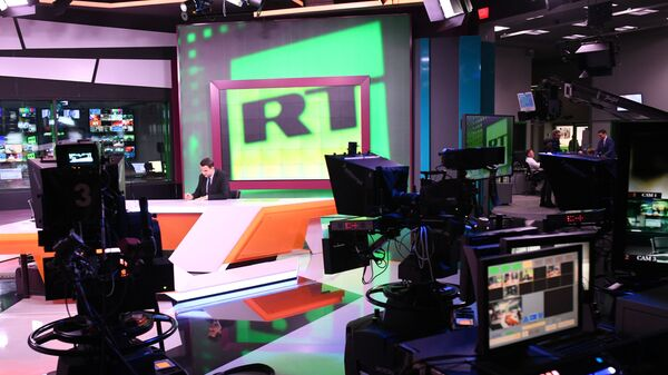 Студия телеканала RT в Москве
