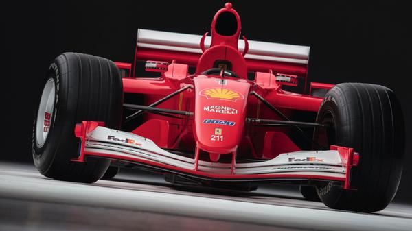 Гоночный болид Ferrari, на котором Михаэль Шумахер выиграл Гран-при Монако