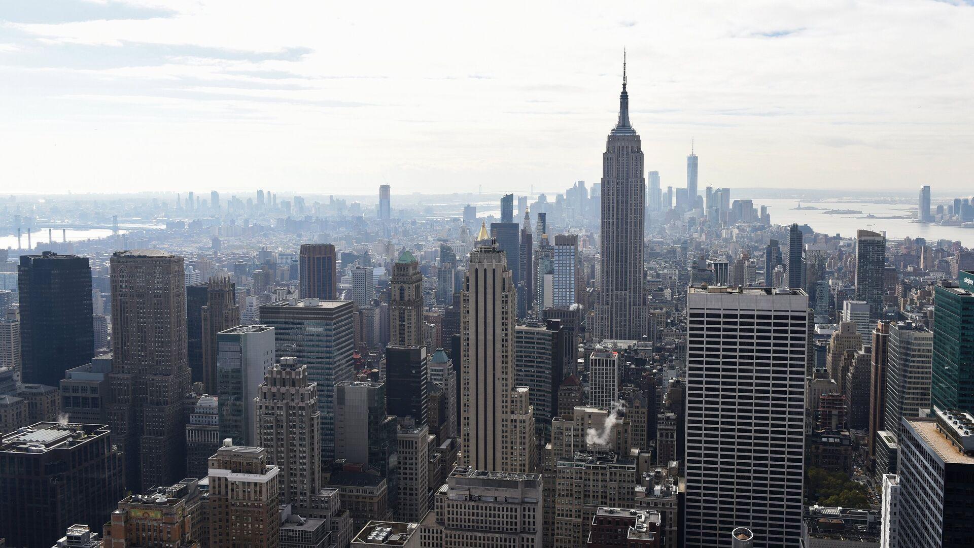Эмпайр-стейт-билдинг в Нью-Йорке на Манхэттене - РИА Новости, 1920, 20.03.2018
