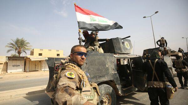Иракские военные в провинции Анбар в районе ирако-сирийской границы. 4 ноября 2017