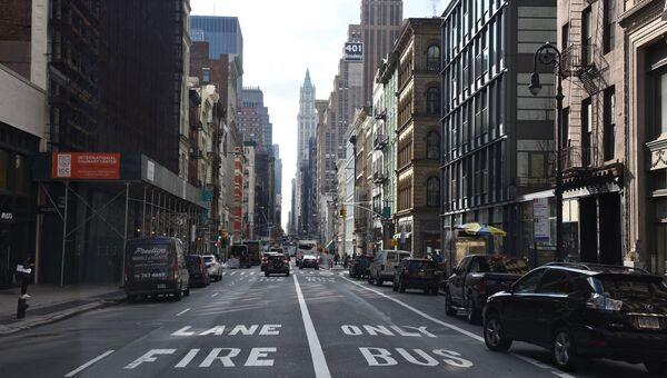 На одной из улиц в Нью-Йорке