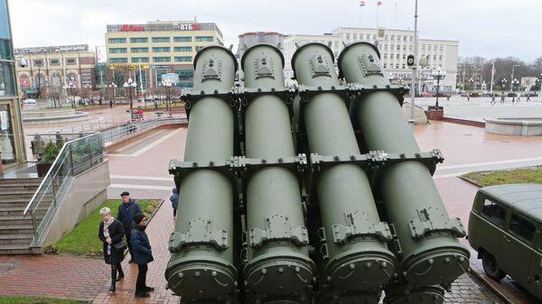 Береговой ракетный комплекс Бал на выставке современной техники и вооружения Балтийского флота в Калининграде. 19 ноября 2017