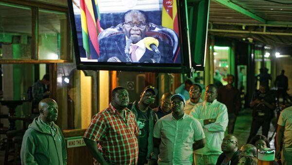 Телеобращение президента Зимбабве Роберта Мугабе к нации. 19 ноября 2017