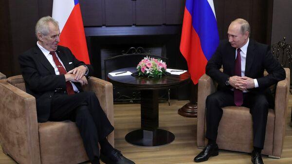Владимир Путин и президент Чехии Милош Земан