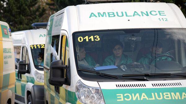 Автомобиль скорой помощи в Грузии. Архивное фото