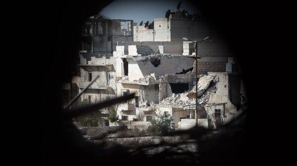 Вид на жилой квартале города Алеппо. Архивное фото