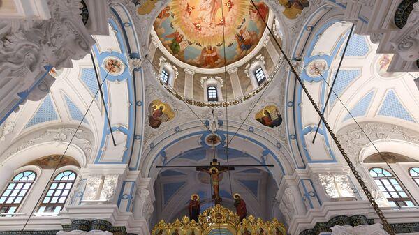 Убранство Воскресенского собора на территории Ново-Иерусалимского мужского монастыря