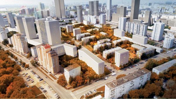 Концепция площадки реновации в районе Хорошево-Мневники от MLa+ Buromoscow