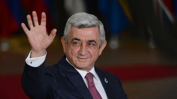 Президент Армении Серж Саргсян. Архивное фото