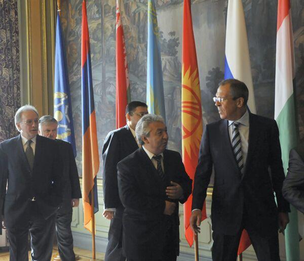 Заседание Совета министров иностранных дел Организации Договора по коллективной безопасности