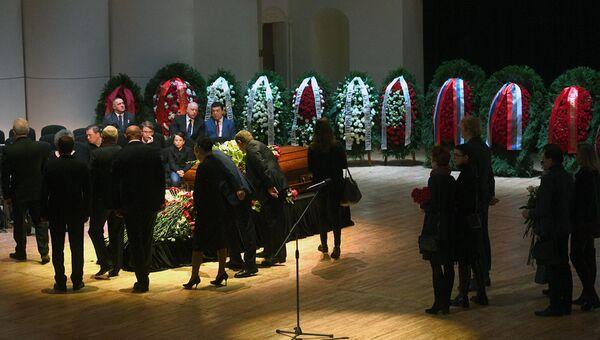 Церемония прощания с оперным певцом Дмитрием Хворостовским. 27 ноября 2017
