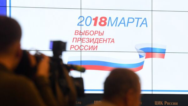 Презентация визуальной концепции информирования избирателей о выборах. Архивное фото