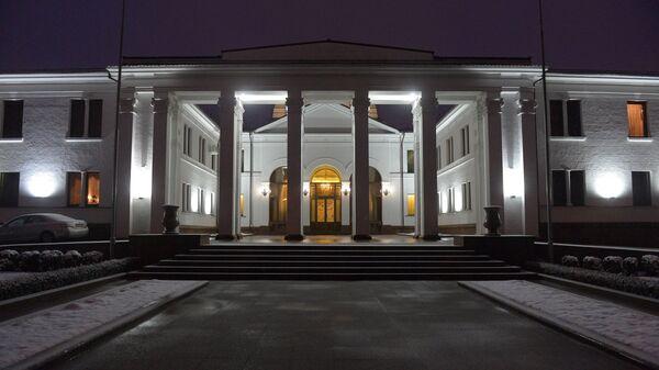 Здание дипломатического сервиса в Войсковом переулке в Минске